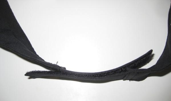 GORE Running Visor Black velcro strap