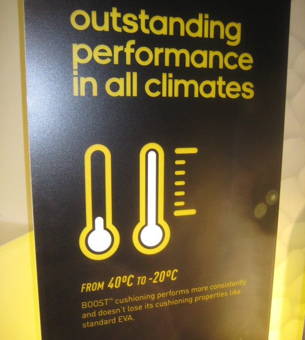 adidas boost temperature range
