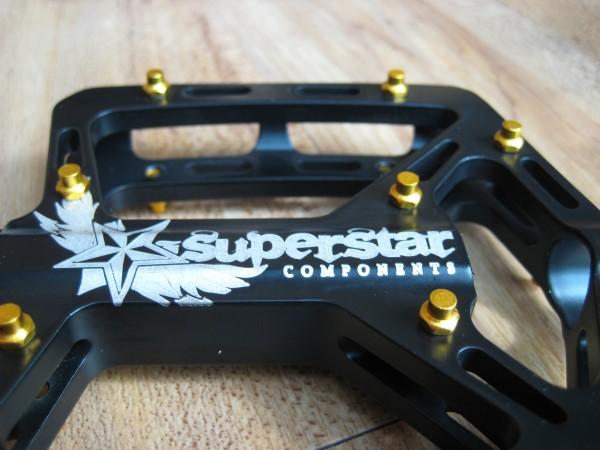 Superstar Ultra Mag Pedals Titanium Axle Top