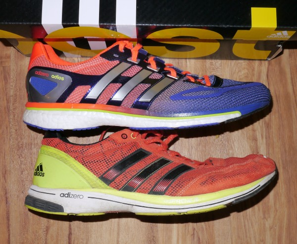 adidas adios boost side Vs adios2