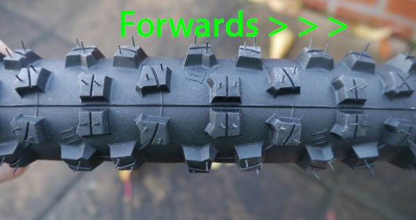 Continental Baron 2.3 Tread Directional Folding Black Chili