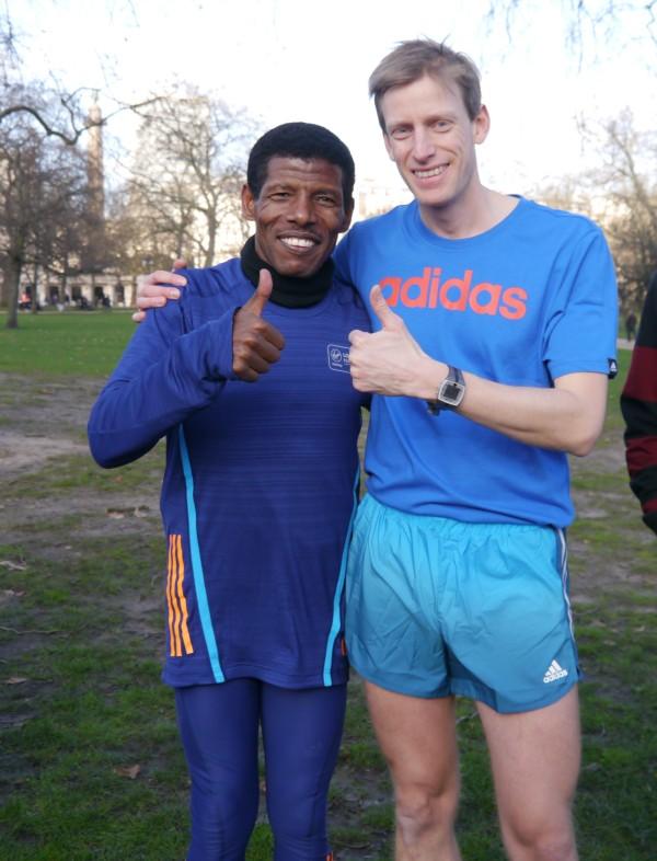 Haile Gebrsalassie meets Charles