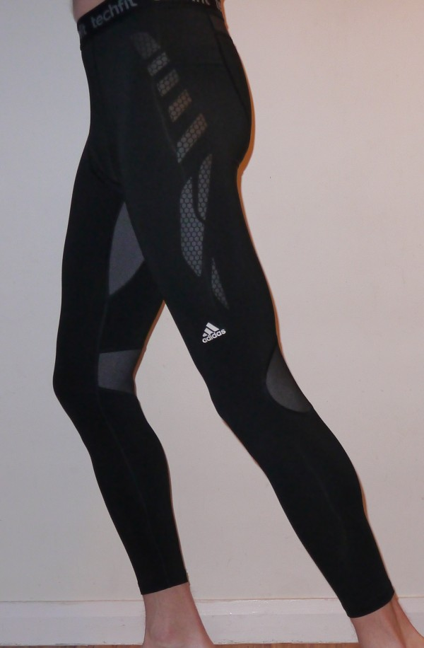 adidas techfit preparation compression running tights left