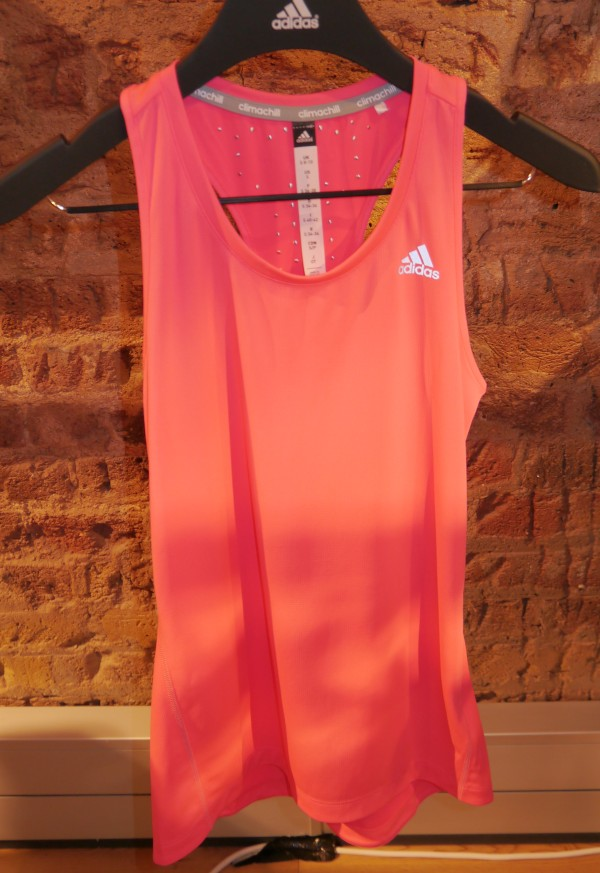 adidas climachill womens singlet front pink