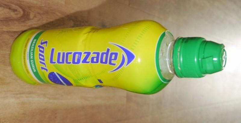 Lucozade Sport Brazilian Guava bottle banner