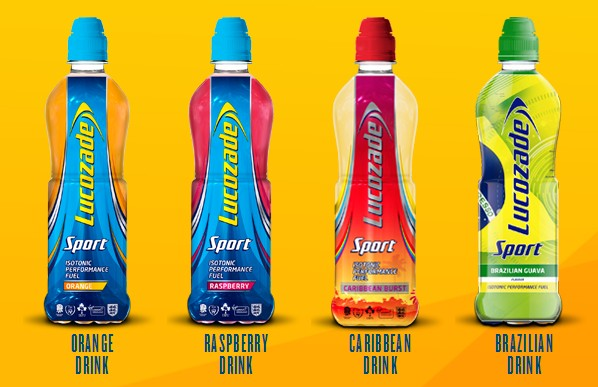 Lucozade Sport range flavours