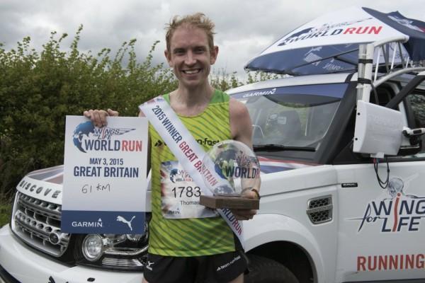 wings for life world run winner Tom Payn