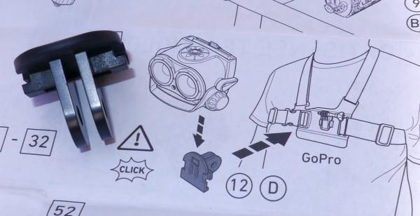 LED Lenser XEO19R GoPro chest mount
