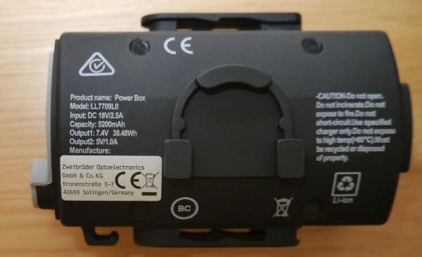 LED Lenser XEO19R battery specification