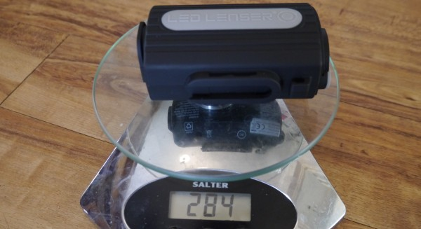 LED Lenser XEO19R weight battery pack