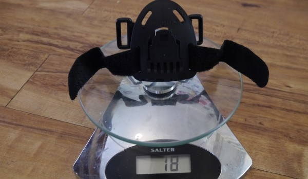 LED Lenser XEO19R weight helmet mount